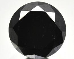 1.36 Cts Natural Black Diamond Round Africa