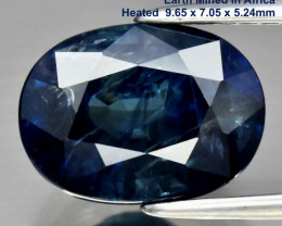Mother's Day 3.29ct Sapphire - 9.65 x 7.05mm / Cert