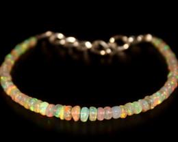 17.20 Crts Natural Ethiopian Welo Opal Beads Bracelet 2