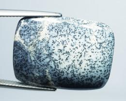 18.61 ct Natural Dendrite Opal Rectangular Cabochon  Gemstone