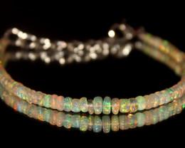 16.65 Crts Natural Ethiopian Welo Opal Beads Bracelet 5
