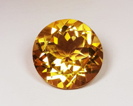 5.48 ct Excellent Gem Round Cut Top Luster Natural Citrine