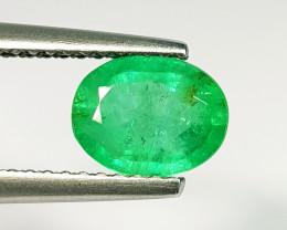 0.98 ct  Fantastic Gem  Lovely Oval Cut Natural Emerald
