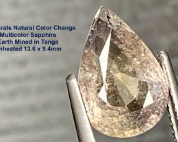 Give Mom More :-) 6.05ct  Color Change Sapphire- UNHEATED/Tanga  13.6x9.4mm