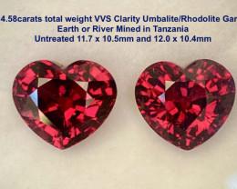 14.58ct tw VVS Umbalite/Rhodolite Garnet - Tanzania / Unhea