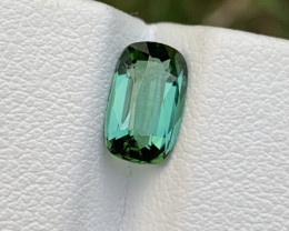 1.40 carats Bluish Green color Tourmaline Gemstone From Afghanistan