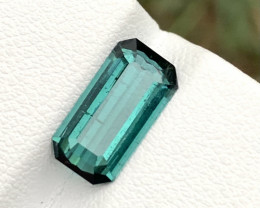 1.85 carats Indicolite color Tourmaline Gemstone From Afghanistan