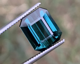 2.85 carats Indicolite color Tourmaline Gemstone From Afghanistan