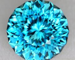 CUSTOM CUT - 2.78ct BLUE ZIRCON  - CAMBODIA