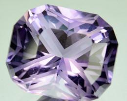 ~CUSTOM CUT~ 4.32 Cts Natural Purple Amethyst Fancy Cushion Bolivia