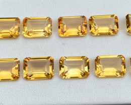 Natural Citrine lot 42.14 Cts 10/Pc Beautiful  Color Gemstone