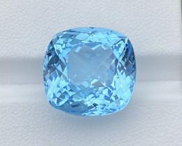 32.58 Cts Natural  Blue Topaz, Super Perfect Precision Cut Gemstone
