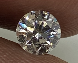 (D) Certified $547 Beautiful 0.40cts SI1 Nat  White Round Loose Diamond