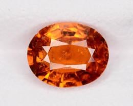 Top Color 1.60 ct Hessonite Garnet Ring Size