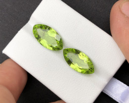7.85 Ct Untreated Green Color Pair Peridot