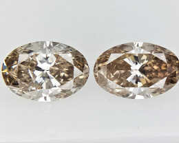 2/0.39 cts  , Oval Brilliant Cut natural Diamonds ,Diamonds for Jewelry