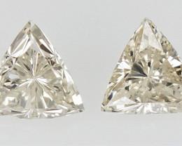 2/0.18 cts   , sparkling triangle briliant Cut Diamond , natural Diamond
