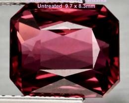 5.12ct VS Umbalite / Rhodolite Garnet -  Scissor-Cut / UNTREATED / 9.7 x 8.