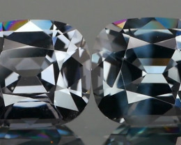Charcoal Grey Spinel Cushion Pair 2.24Ct