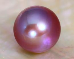 12.5mm 13.74Ct Natural Tahitian Purple Black Pearl B2805