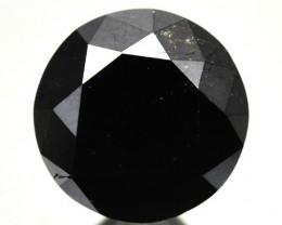 1.82 Cts Natural Black Diamond Round  Africa