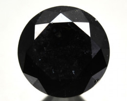 1.96 Cts Natural Black Diamond Round  Africa
