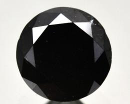1.41 Cts Natural Black Diamond Round  Africa