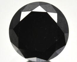 1.87 Cts Natural Black Diamond Round  Africa