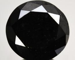1.20 Cts Natural Black Diamond Round  Africa