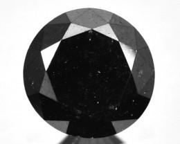 1.25 Cts Natural Black Diamond Round  Africa