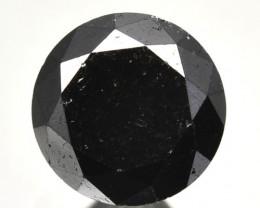 1.75 Cts Natural Black Diamond Round  Africa