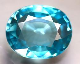 Blue Zircon 5.00Ct Natural Cambodian Blue Zircon D2905/B6