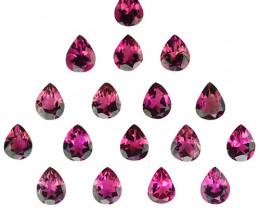 5.19Cts Super Rich Untreated Pink Tourmaline Parcel Pear 5 X 4mm