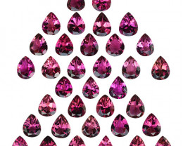 10.03Cts Super Rich Untreated Pink Tourmaline Parcel Pear 5 X 4mm