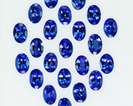 13.92 Cts Natural Purple Blue Tanzanite Oval 6x4mm  Parcels Tanzania