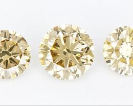 0.67 cts Round Brilliant Cut Diamonds