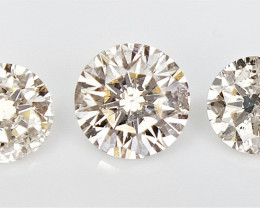 0.68 cts  Round Brilliant Cut Diamonds