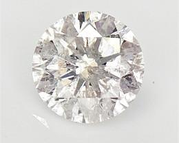0.33 cts Round Lightest Fainte Pink Tone Diamond , Loose Diamond for Jewelr