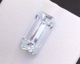 Emerald Cut Aquamarine 3.75Ct Natural  Beautiful Aquamarine Gemstone