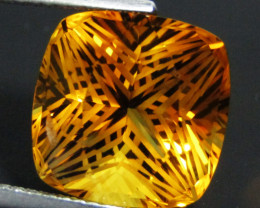 8.55Cts Wow Amazing Natural Citrine Cushion precision  Cut  Collector Gem S