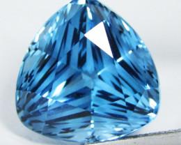9.99Cts Sparkling Natural London  Blue Topaz Trillion Magic  Cut Loose Gem