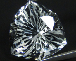 11.71Cts Genuine Amazing Unheated precision Trillion Magic Cut White Topaz