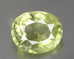 1.810 CT BERYL GREENISH YELLOW 100% NATURAL UNHEATED