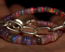 22 Crts Natural Welo Smoked Opal Beads Bracelet 375