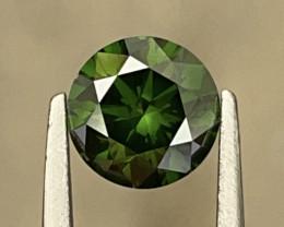 1.11 CT Diamond Gemstones Green Color top luster