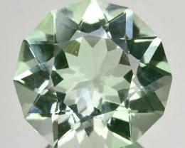 ~CUSTOM CUT~ 5.86 Cts Natural Prasiolite / Amethyst Round Brazil