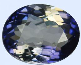 1.36 Cts Natural Deep Blue Iolite Oval Cut Tanzania