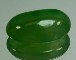 ~UNTREATED~ 1.69 Cts Natural Green Jade Cabochon Burmese