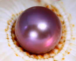 11.0mm 9.32Ct Natural Tahitian Purple Black Pearl C2904