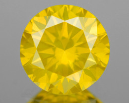 Natural Yellow Diamond Sparkling Luster Vivid Color YD1